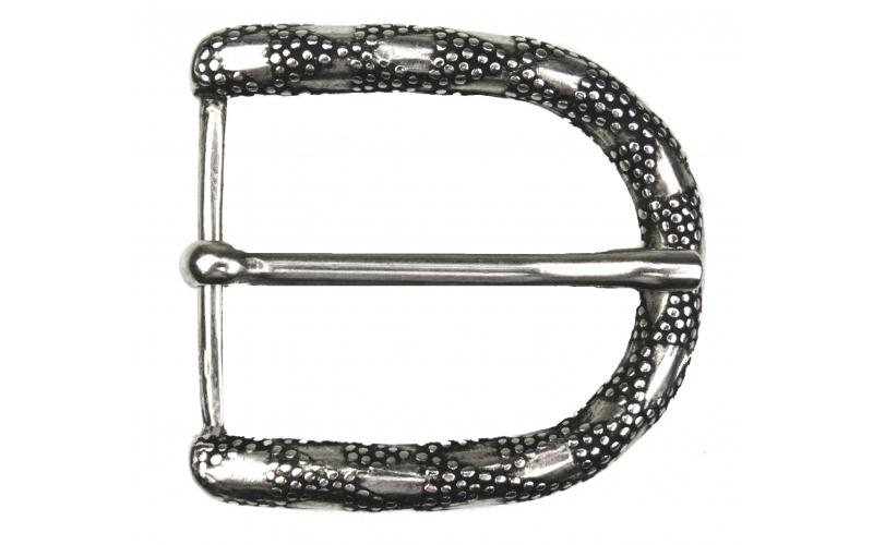 Halbrunde Gürtelschnalle. klassische Schnalle für Gürtel / Wechselgürtel 4 cm breit