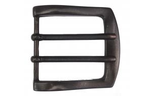 Schwarze Gürtelschnalle für Gürtel 5cm breit doppeldorn / Schnalle schwarz