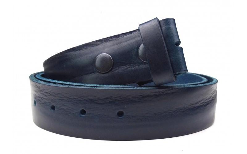 Wechselgürtel aus weichem Leder dunkelblau