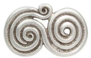 Gürtelschnalle Looped in alt Silber
