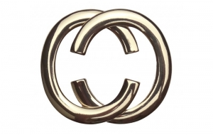 Gürtelschnalle CC Gold glänzend