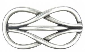 Gürtelschnalle Knoten in alt silber
