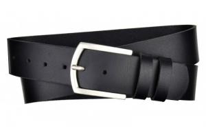 Herren Gürtel 45 mm breit aus Büffelleder schwarz mit Dornschnalle