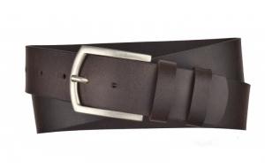 Herren Gürtel 45 mm breit aus Büffelleder dunkelbraun
