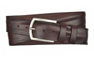 Herren Gürtel 45 mm aus Leder dunkelbraun mit Dornschnalle
