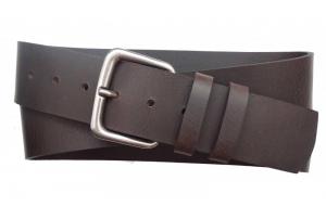 Herren Gürtel 50 mm breit aus Büffelleder dunkelbraun