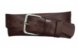 Herren Gürtel aus Leder 50 mm braun mit Dornschnalle