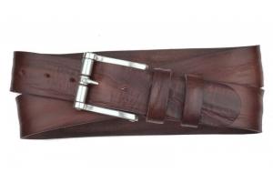 Herren Gürtel aus Leder dunkelbraun mit Rollschnalle