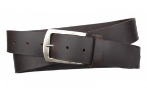 Herren Gürtel aus Büffelleder dunkelbraun mit klassischer Schnalle