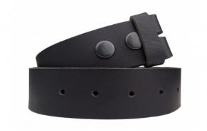 Wechselgürtel / Gürtel ohne Schnalle aus Büffelleder schwarz