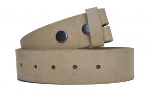Wechselgürtel / Gürtel ohne Schnalle aus Leder Asche Beige