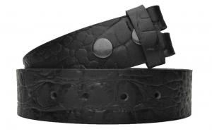 Wechselgürtel / Gürtel ohne Schnalle in Kroko Optik schwarz