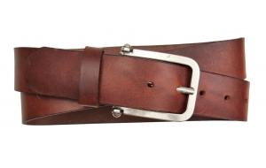 Jeansgürtel aus Leder braun mit Schnalle Umju Belt