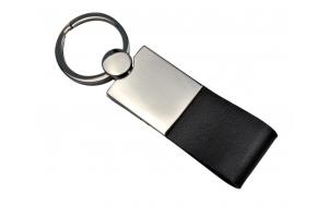 Schlüsselanhänger mit Leder schwarz