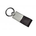Schlüsselanhänger mit Leder dunkelbraun