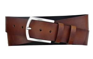 Herren Gürtel 45 mm breit aus Leder braun mit Dornschnalle