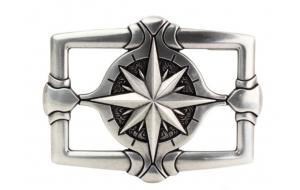 Gürtelschnalle Star - Windrose