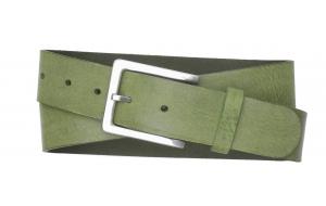 Damen Ledergürtel grün mit schlichter Schnalle