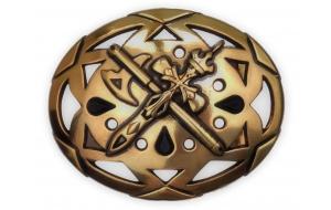 Gürtelschnalle mit Kreuz