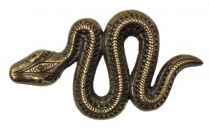 Gürtelschnalle Schlange Gold