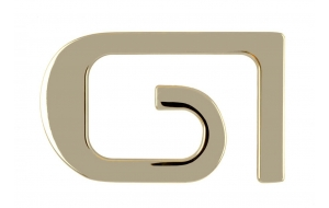 Gürtelschnalle GI Gold glänzend
