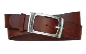 Herren Gürtel aus Leder braun mit geschlossener Schnalle