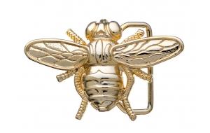 Gürtelschnalle Biene Gold glänzend