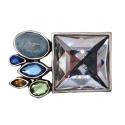 Gürtelschnalle mit Strasssteinen Big Diamond
