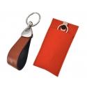Schlüsselanhänger mit Leder hellbraun
