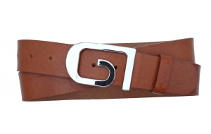 Damen Gürtel aus Leder braun mit Schnalle GI