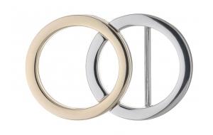 Gürtelschnalle 2 Ringe Gold Silber