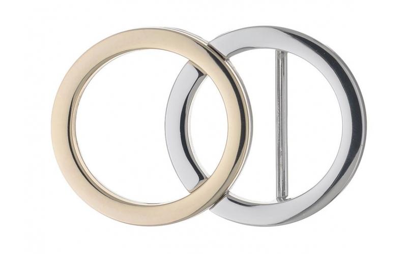 Gürtelschnalle 2 Ringe