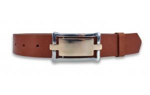 Ledergürtel braun 3,3cm mit Koppel Schließe
