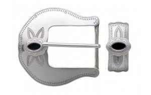 Gürtelschnalle Westernschnalle mit Metallschlaufe