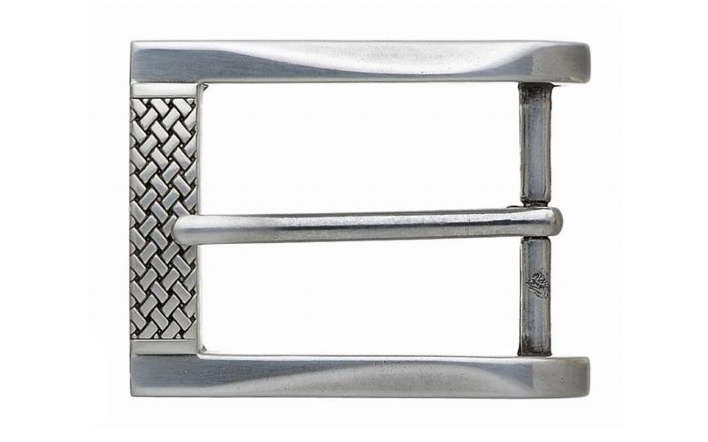 Gürtelschnalle Elegant in Silber