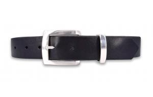 Ledergürtel schwarz 3,3 cm breit mit Metallschlaufe