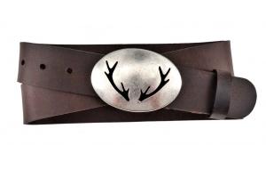Herren Gürtel - Jagdgürtel aus Leder braun