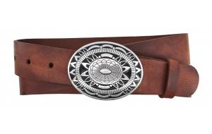 Westerngürtel aus Leder braun mit Schnalle Colorado