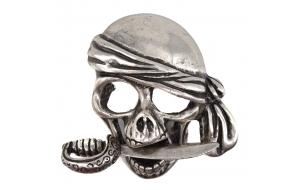 Gürtelschnalle mit Totenkopf Pirat