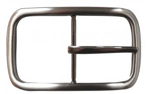 Gürtelschnalle / Schnalle für Gürtel 4cm breit schlicht Klassisch 4 in silber