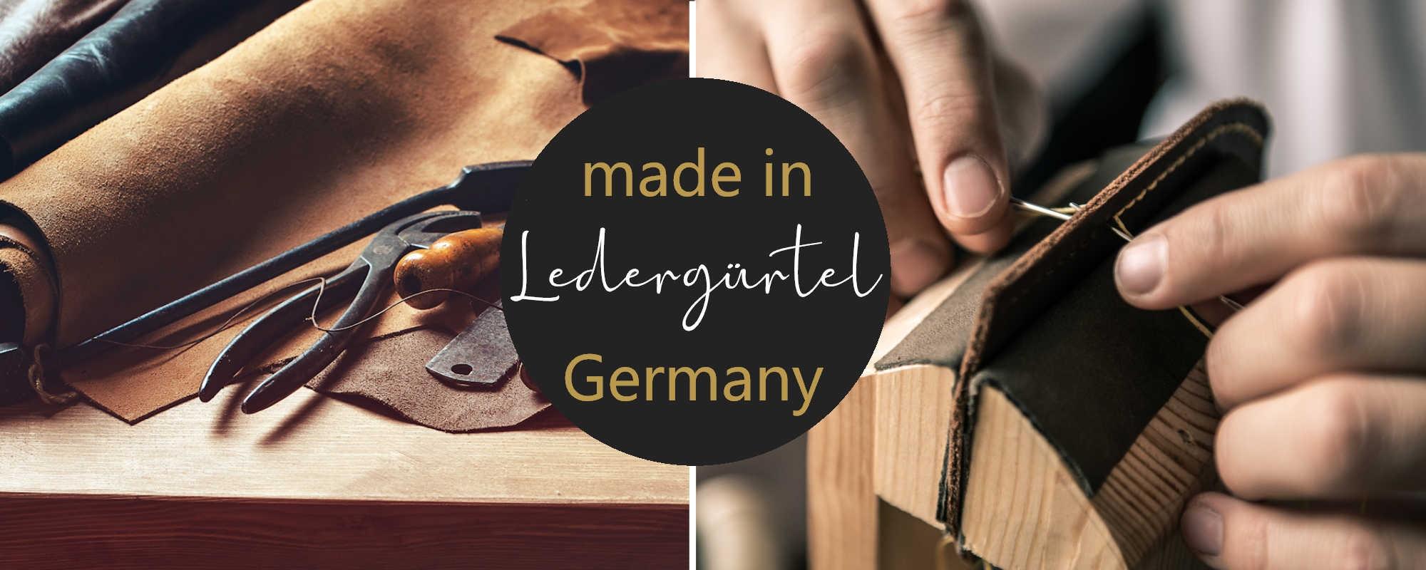 Gürtel handgemacht in Deutschland